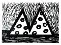 Égi vándor, 1999, filctoll, papír, 20x24 cm (Miki)