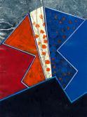 A látogató, 1994, kollázs, vegy tech, 15,5x12,5 cm